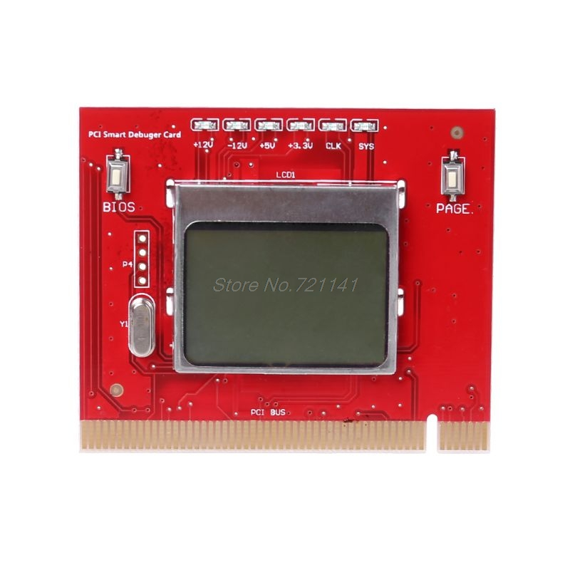 LCD PCI PC High Quality Computer Analyzer Tester Diagnostic Card MAR20 Dropship