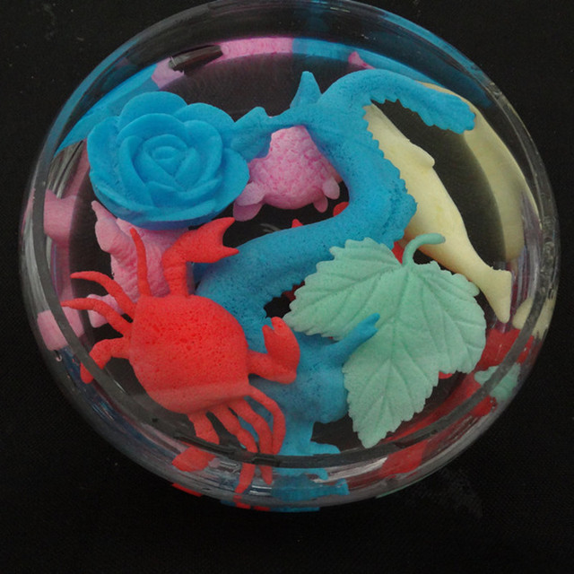 50pcs Ocean Animal Growing Toy Marine Biology Toys Sea Animals Toy Soaking Epansion Swelling In Water for Kids Gift Party