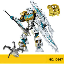 NEW 2015 BIONICLE 10667 Star Solider BINOICLE Kopaka Master of Ice Robot Action Building block toys for Children