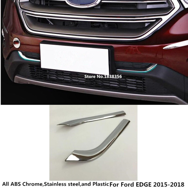For Ford Edge  Car Styling Abs Chrome Racing Bezel Trim Front Grid Grill