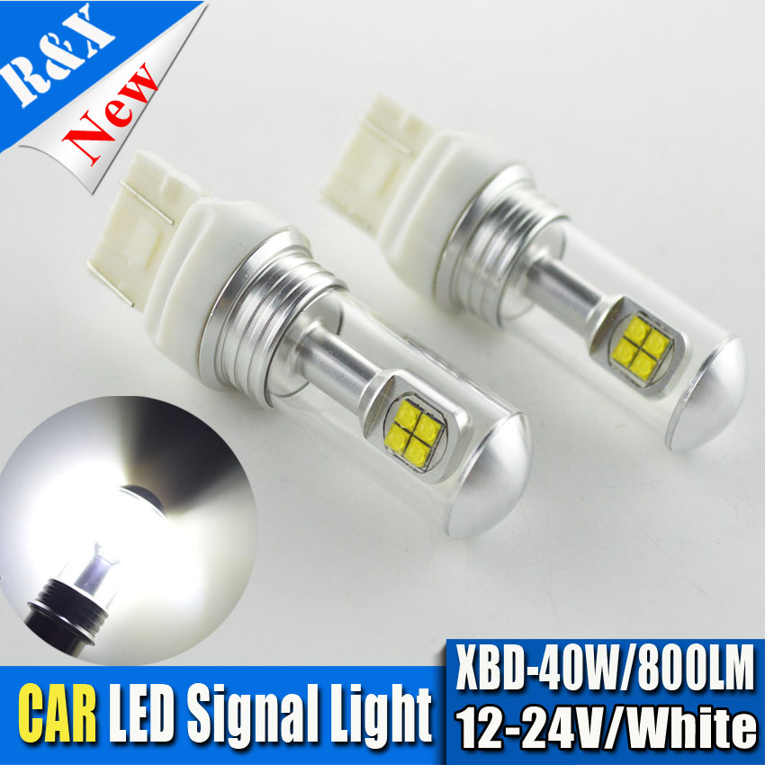 2pcs High Power 40W XBD Chip 12V - 24V T20 7443 7440 W21W LED Bulbs Car Reverse Lights Signal Backup DRL Lights White 800LM 2x 3014 57smd chip t20 7443 7440 canbus error free bulbs led bulbs car reverse lights signal backup drl lights white red yellow