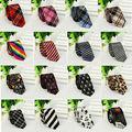 Caliente Clásico de Los Nuevos Hombres Delgados lazos corbata partido Casual Narrow Corbatas Rayas de la Tela Escocesa de La Manera Del Lazo Del Hombre de Negocios para La Boda