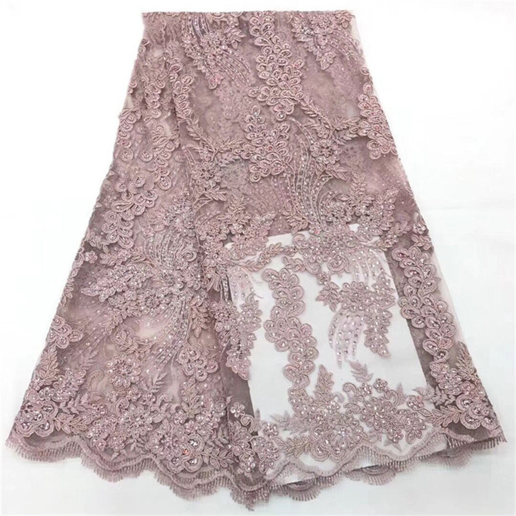 Elegant Nigerian Tulle French Lace Fabric With Stones Beaded 2018 High Quality African Bridal Lace Fabric