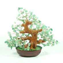 Natural dongling jade crystal fortune tree ornaments