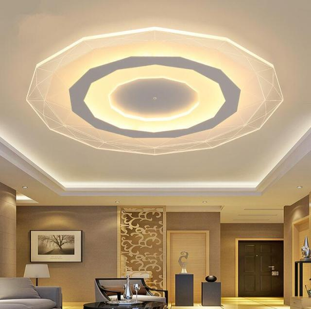 Acrylic ceiling lights indoor lighting abajur ceiling led lamp modern ...