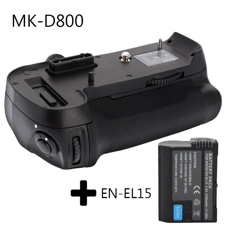Meike MK-D800 Battery Grip for Nikon D800 D810 D800E as MB-D12 + 1* EN-EL15 цена и фото