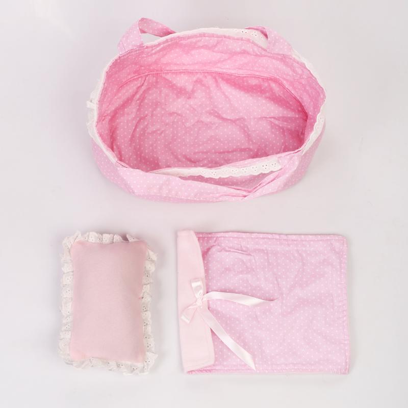 28 cm reborn bebê boneca roupas berço cobertor travesseiro acessórios