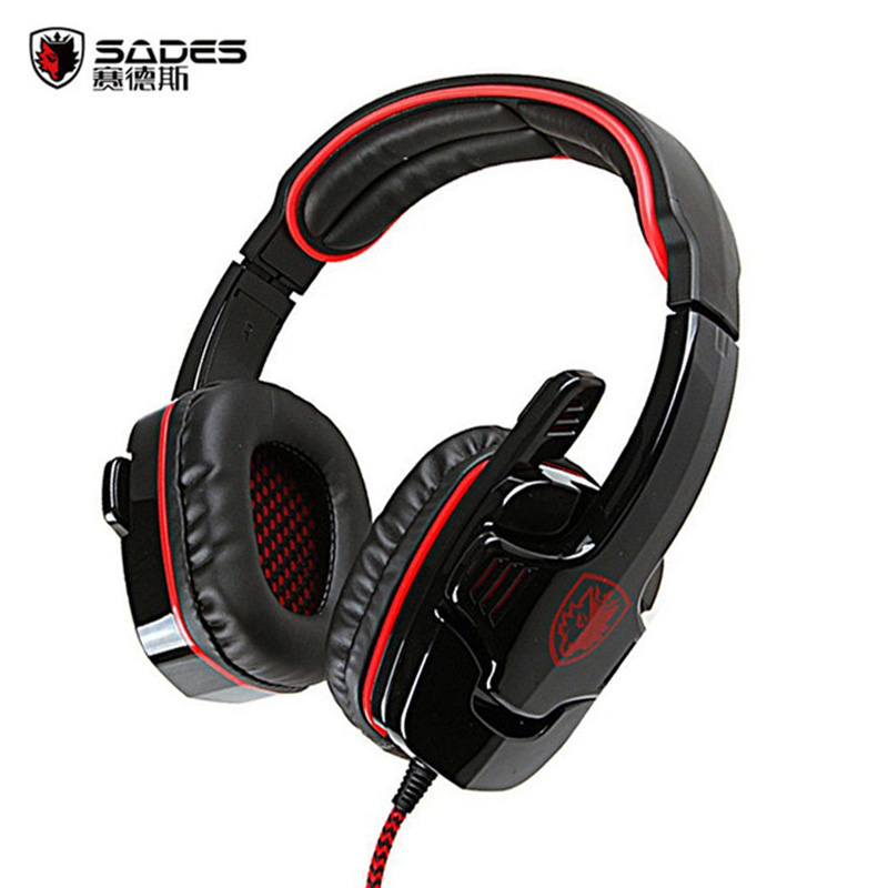 SADES SA-901 Gaming Headphones USB Plug 7.1 Surround Stereo Deep Bass Game Headset Earphone with Mic for PC Computer Gamer sades r2 usb 7 1 channel gaming headphones computer game headset stereo bass earphones with mic breathing led light for pc gamer