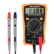 Cheap Handskit Digital Multimeter Pocket Backlight AC/DC Voltage Meter Tester Probles Crocodile Clip Tool New