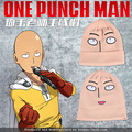 Free shipping New cute funny harajuku cartoon one punch man Bald Saitama embroidered knitted hat
