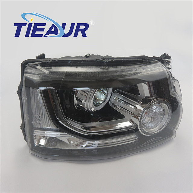 Headlight Xenon Light for LANDROV DISCOVERY 4 LR023536 LR023537 From 2010-2013 upgrade to 2014 years Without AFS Headlight With 5