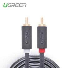 Ugreen av104 высокое качество rca аудио кабели между мужчинами rca aux кабель 1.5 м 2 м 3 м 5 м rca кабель для ноутбуков tv dvd усилитель