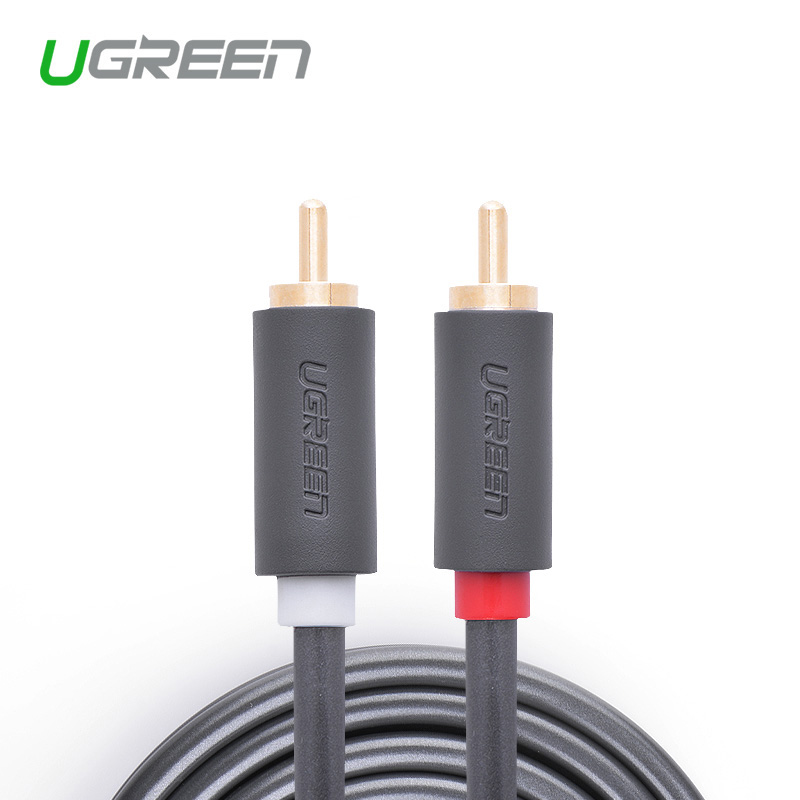 Ugreen AV104  high quality rca jack audio cables male to male rca aux cable 1.5m 2m 3m 5m rca cable for Laptop TV DVD amplifier