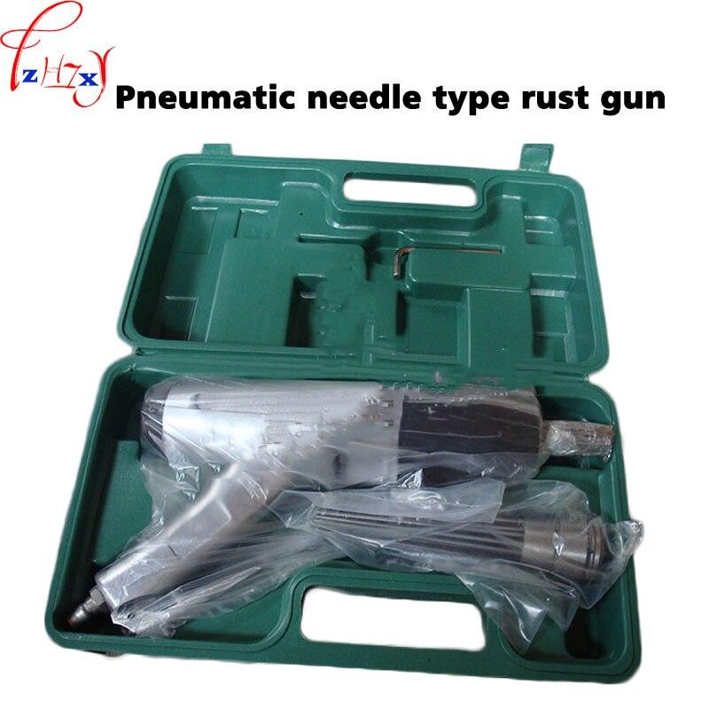 Pneumatic needle anti-rust gun JEX-28 rust removal air Needle Scaler, Pneumatic derusting gun+plastic box 1pc