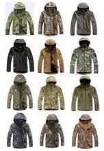 Unisex Waterproof Windbreak TAD V4.0 Sharkskin Softshell Hoodie Outdoor Jacket Camo Tactical Hiking Camping Soft Shell Coat