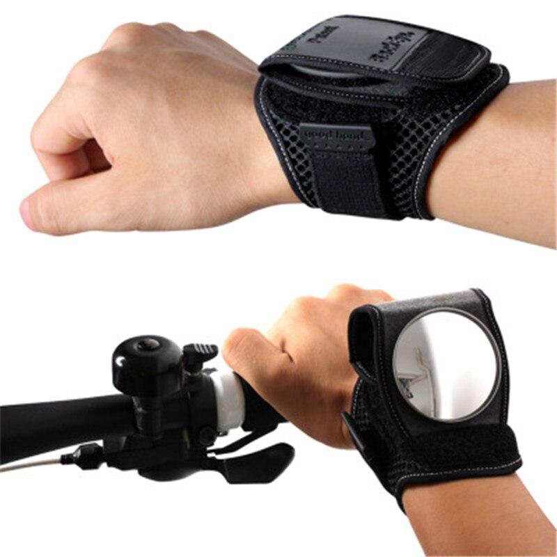 Adjustable Bicycle Wristband Bike Cycling Back Rear View Mirror Mountain Bike Bicycle Rearview Mirror Wrist Strap Belt Bike Part