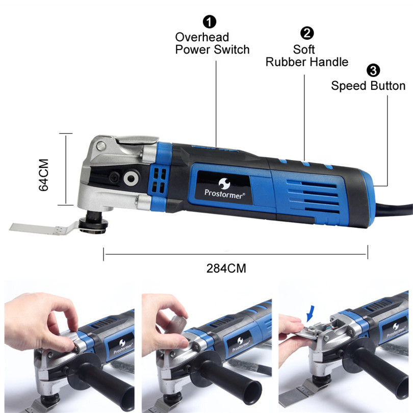 Image 2 - Prostormer Variable Speed Renovator Electric Multifunction tool Oscillating Kit Multi Tools Home Decoration Trimmer Electric Saw-in Oscillating Multi-Tools from Tools on