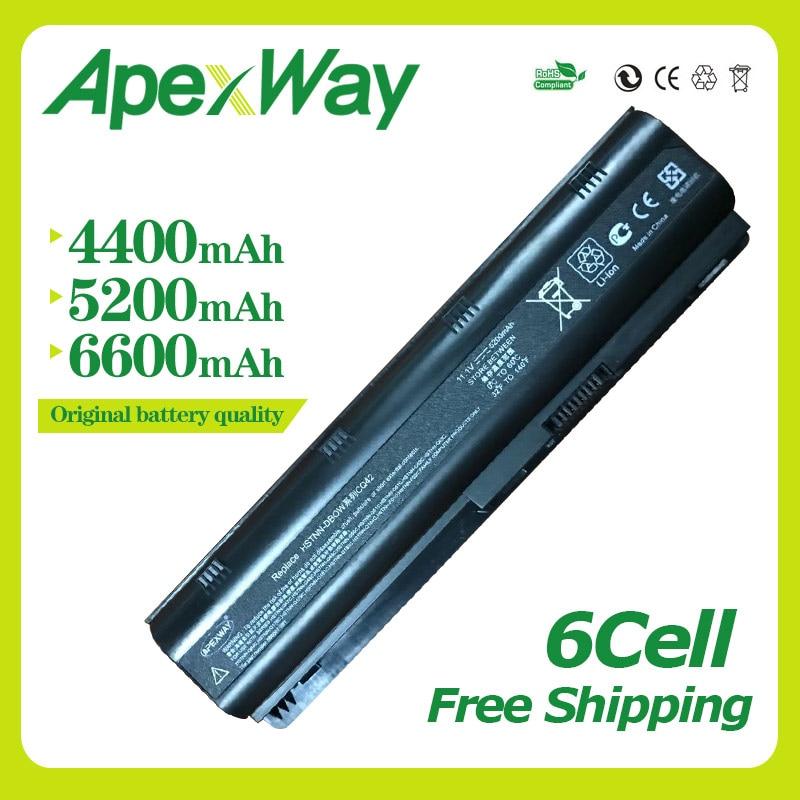 Apexway 11.1 v 6 cellulaire batterie D'ordinateur Portable pour HP Pavilion DM4 MU06 MU09 CQ32 CQ42 G42 G72 G62 G6S G6T g6X CQ43 CQ56 CQ62