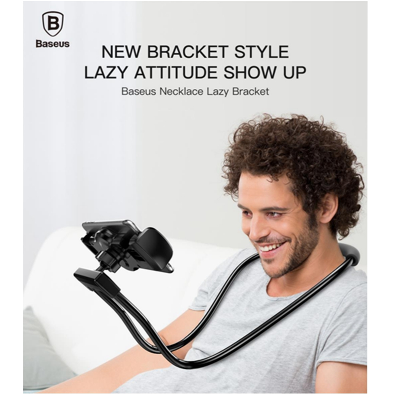 Baseus Flexible Mobile Phone Holder Necklace Long Arm Lazy Bracket Soft Metal Holder Stand For iPhone iPad Air 4-10 inch Tablet