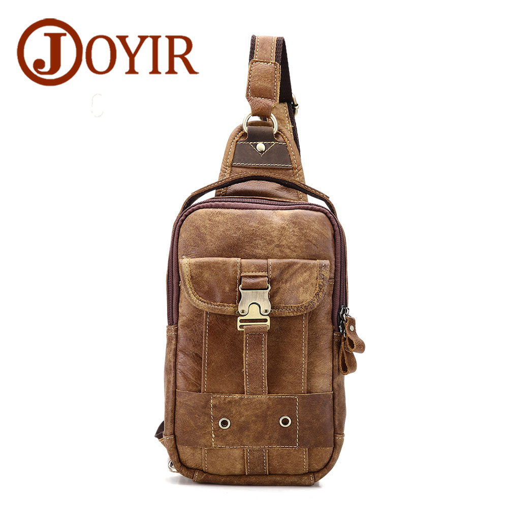 New Arrival 2018 Genuine Leather Men Chest Pack Famous Men's Crossbody Chest Bags Casual Small Shoulder Bag for Male Man Bag joyir new arrival genuine leather cowhide chest pack men s crossbody chest bags casual small shoulder bag for male man bag 1308 page 7