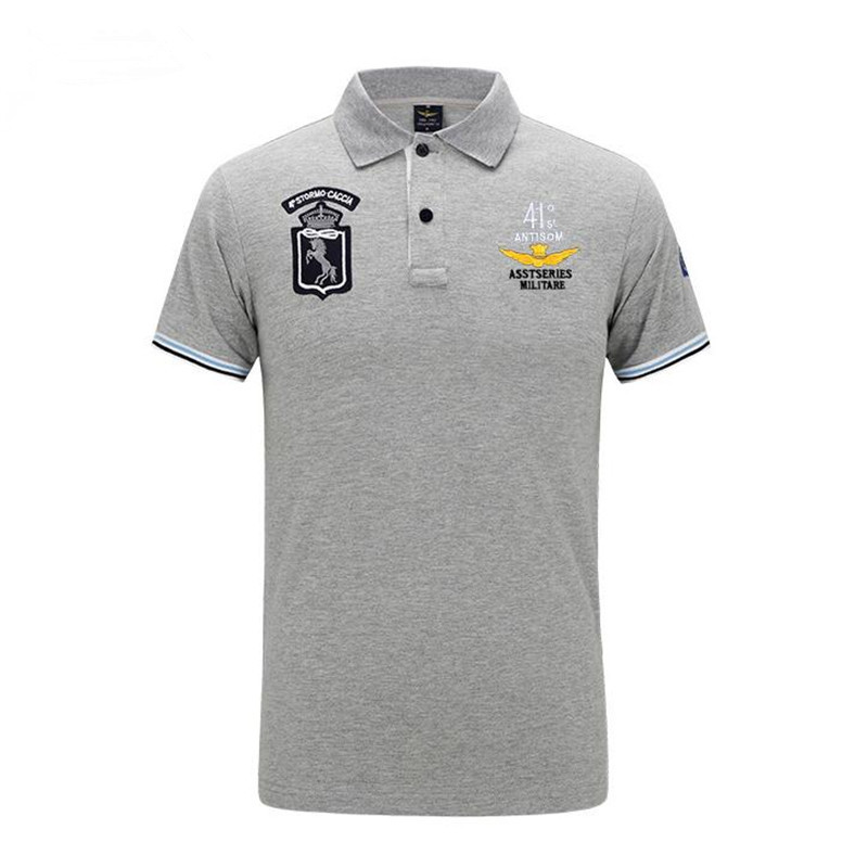 Mens Air Force USA Embroidered Polo Shirts Men Tee