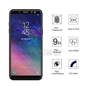 Image 2 - 9H Gehärtetem Glas Für Samsung Galaxy A6 2018 A600 A600FN Screen Protector Für Samsung A6 + A6 Plus 2018 a605 A605FN Film Sklo