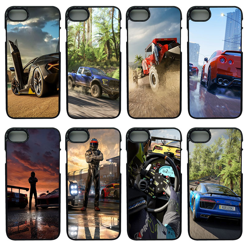 online store f02a2 c6178 US $4.49 10% OFF|Forza Motorsport 7 Mobile Phone Cases Hard PC Plasetic  Cover for iphone 8 7 6 6S PLUS X 5S 5C 5 SE 4 4S iPod Touch 4 5 6 Shell-in  ...