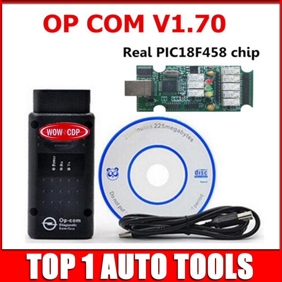 US $158 0 |10pcs+DHL Freeship OPCOM V1 70 OBD2 OP Com CAN BUS Interface For  OPEL Firmware V1 70 OP COM With PIC18F458 Chip Can Flash Update-in