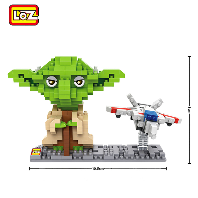 LOZ Star Wars Figures Building Blocks C3PO R2D2 Darth Vader Jedi Yoda Stormtrooper Luke Skywalker Leia Organa Wicket Boba Fett