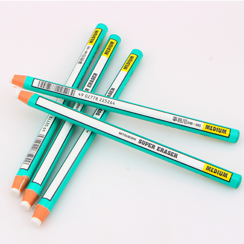 Eraser roll eraser pen used with tear details innovative green rubber writing drawing eraser pencil in eraser from office school supplies on