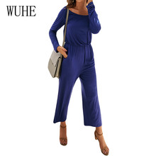WUHE New Arrival Jumpsuits Women Long Sleeve Solid Casual Autumn Playsuits Femme High Quality Go Out Wear Romper Female
