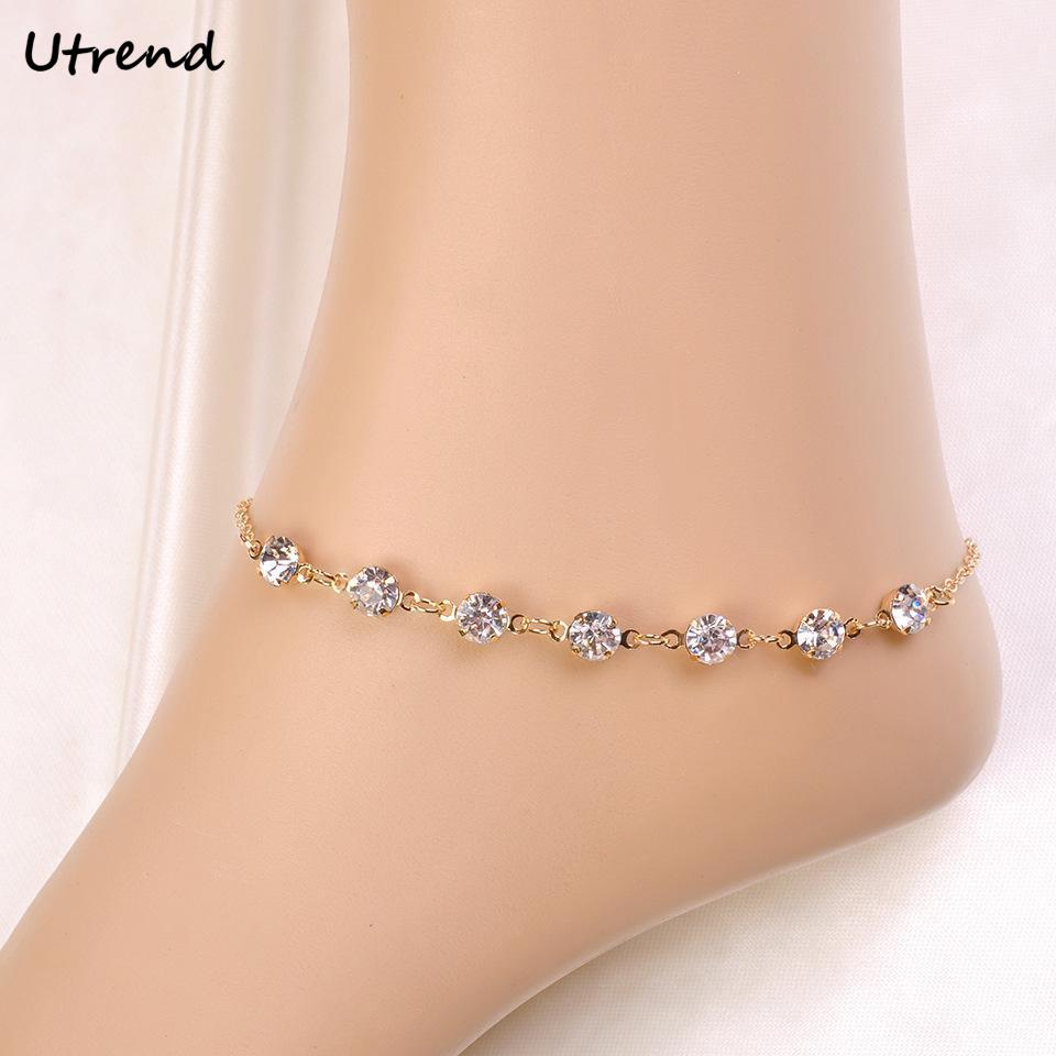 bracelets ankle gold anklet bracelet created real bodycandy plated swarovski handmade collections with crystals shimmer