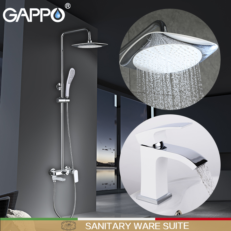 GAPPO basin faucet water mixer bathroom sink faucet chrome brass faucet basin mixer tap deck mount Sanitary Ware Suite