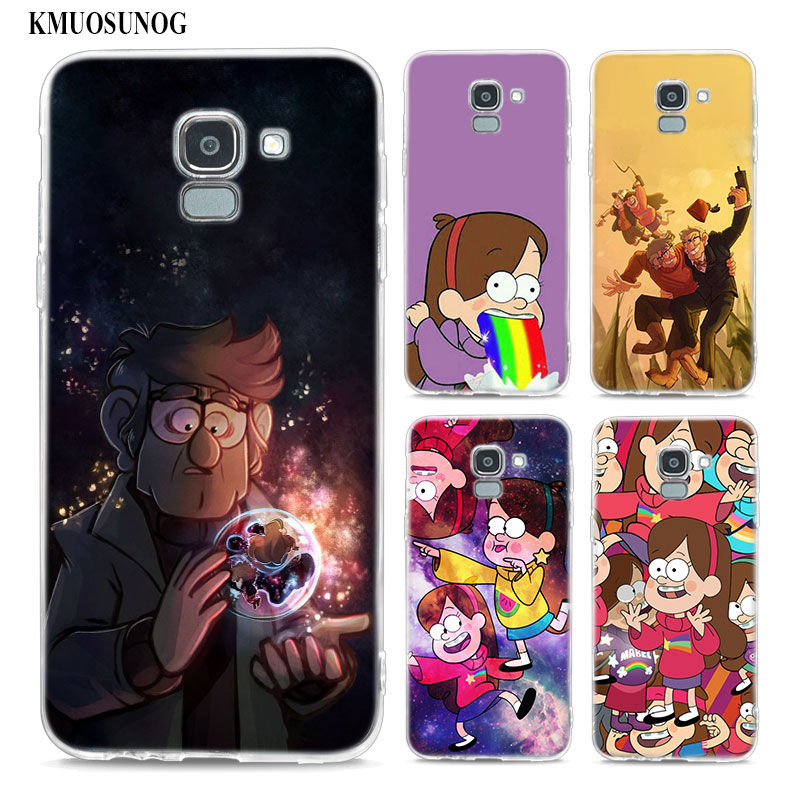 Transparent Soft Silicone Phone Case Gravity Falls Family Art For Samsung Galaxy j8 j7 j6 j5 j4 j3 Plus 2018 2017 Prime in Fitted Cases from Cellphones Telecommunications