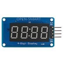 Module d'affichage numérique LED rouge à 4 chiffres, 0.36 pouces, 7 segments, 4 Bits, avec Point d'horloge TM1637 pour Arduino / RPi /AVR