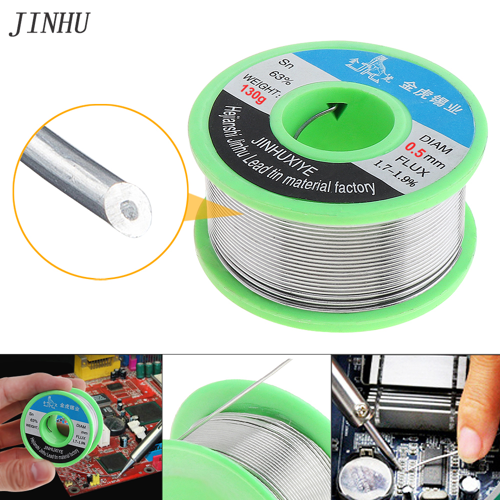 Solder Wire 0.5/0.8/1.2mm 130g Soldering Wires 63/67 FLUX 1.8% Tin Lead Tin Wire Welding Wire Rosin Core Solder For Soldering