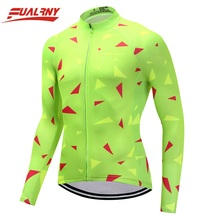 2019 Team FUALRNY Long sleeve Ropa Ciclismo Cycling Jersey 100% Polyester/Autumn Clothing/MTB Bike Clothes For Man Fluorescence
