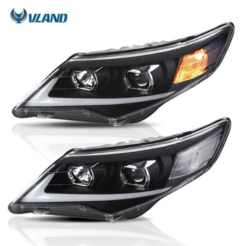 Vland Factory Car Accessories Head Lamp for Toyota Camry 2012 2013 2014 Head Light with Day Light H7 Xenon Bulb