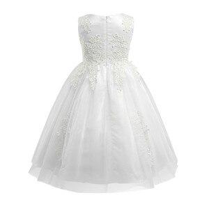 Image 3 - Bebek çocuk topu elbisesi parti resmi çiçek kız elbise suda çözünür prenses Pageant törenlerinde tül Maxi düğün parti elbise