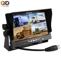 7 Split Quad Monitor Car Headrest Display 4CH Video Input For Back Up Camera Truck RV