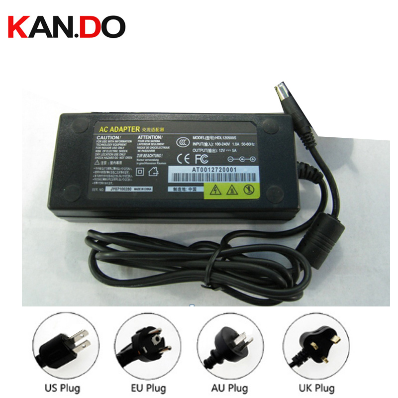 US/Eu/AU/UK camera power box power adaptor AC transformer 12V 5A DC adaptor 110-240V to 12V Power Supply 5.5x2.1mm DC 12V power ac to dc 12v 1a power adaptor with 5 4mm dc plug eu type 110 240v