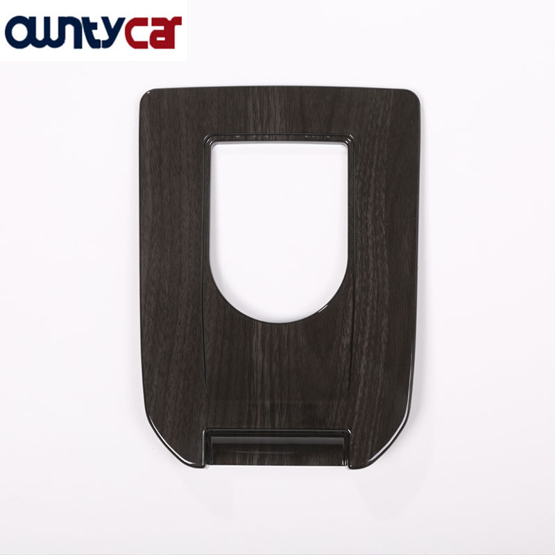 Interior Moulding Gear Shift Panel Trim Sticker Dark Wood Grain For Land Rover Discovery Sport 2015-2017 for land rover discovery sport car styling luxury interior accessory chrome gear shift panel trim sticker dark wood grain 2015
