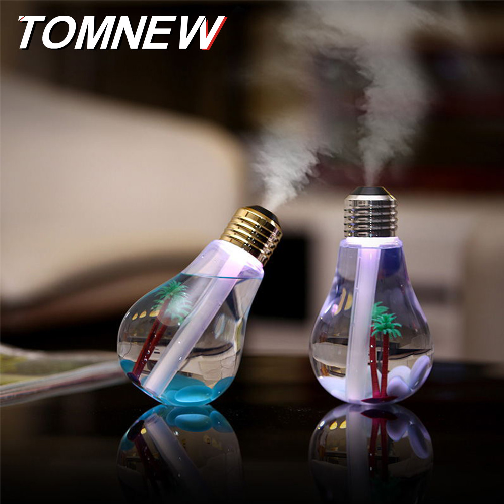 400ML USB Ultrasonic Bulb Humidifier Home Desk Mini Aroma Diffuser LED Night Light Aromatherapy Cool Mist Maker Creative Bottle fimei usb aroma diffuser led night light humidifier vehicle aromatherapy mist maker creative bottle shape air humidifier home
