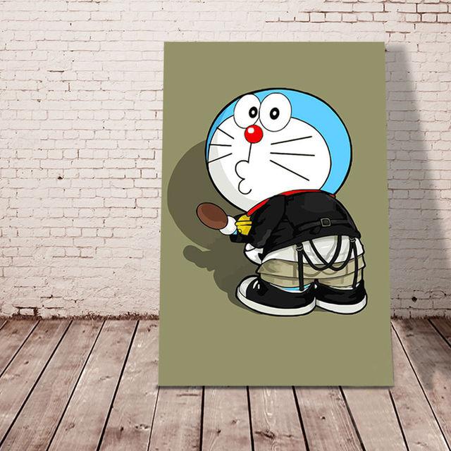 Mewarnai Nomor Doraemon Modular Lukisan Jepang Gaya Kartun Poster Digital