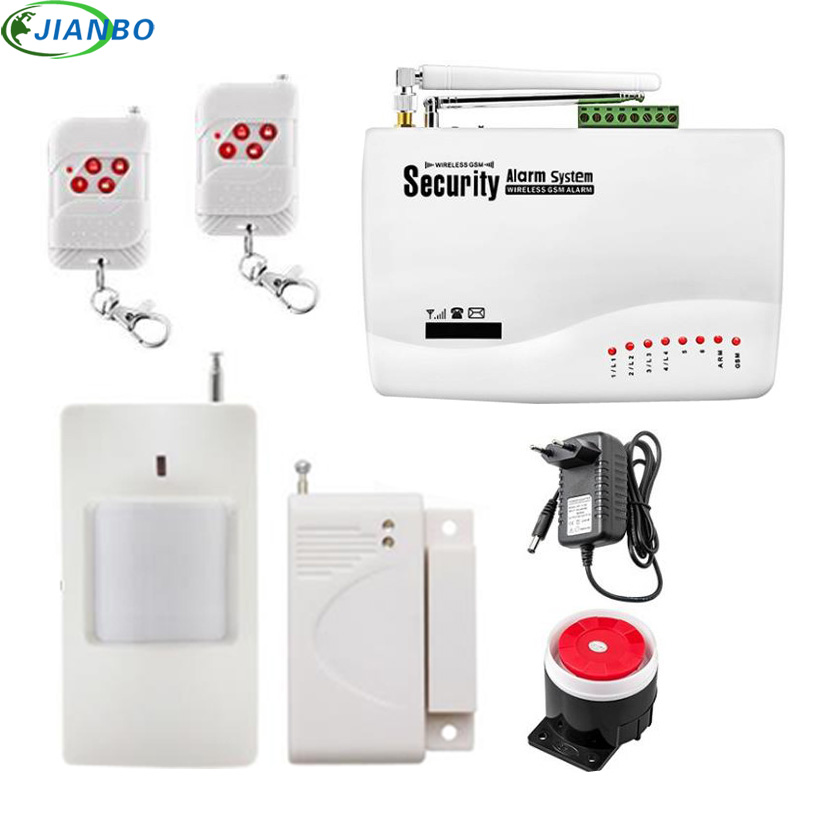 New Wireless GSM Alarm System Dual Antenna GSM Home Alarm Systems With SMS Detector Russian English Voice Security GSM 10A Alarm цена