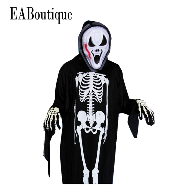 30a4ecc1 2016 New halloween ghost scary costume mother daughter father son family  clothing set include mask jumpsuit gloves 3 piece set