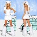 White sexy Christmas Cosplay costume Women halloween Fancy dress Panda girl costumes