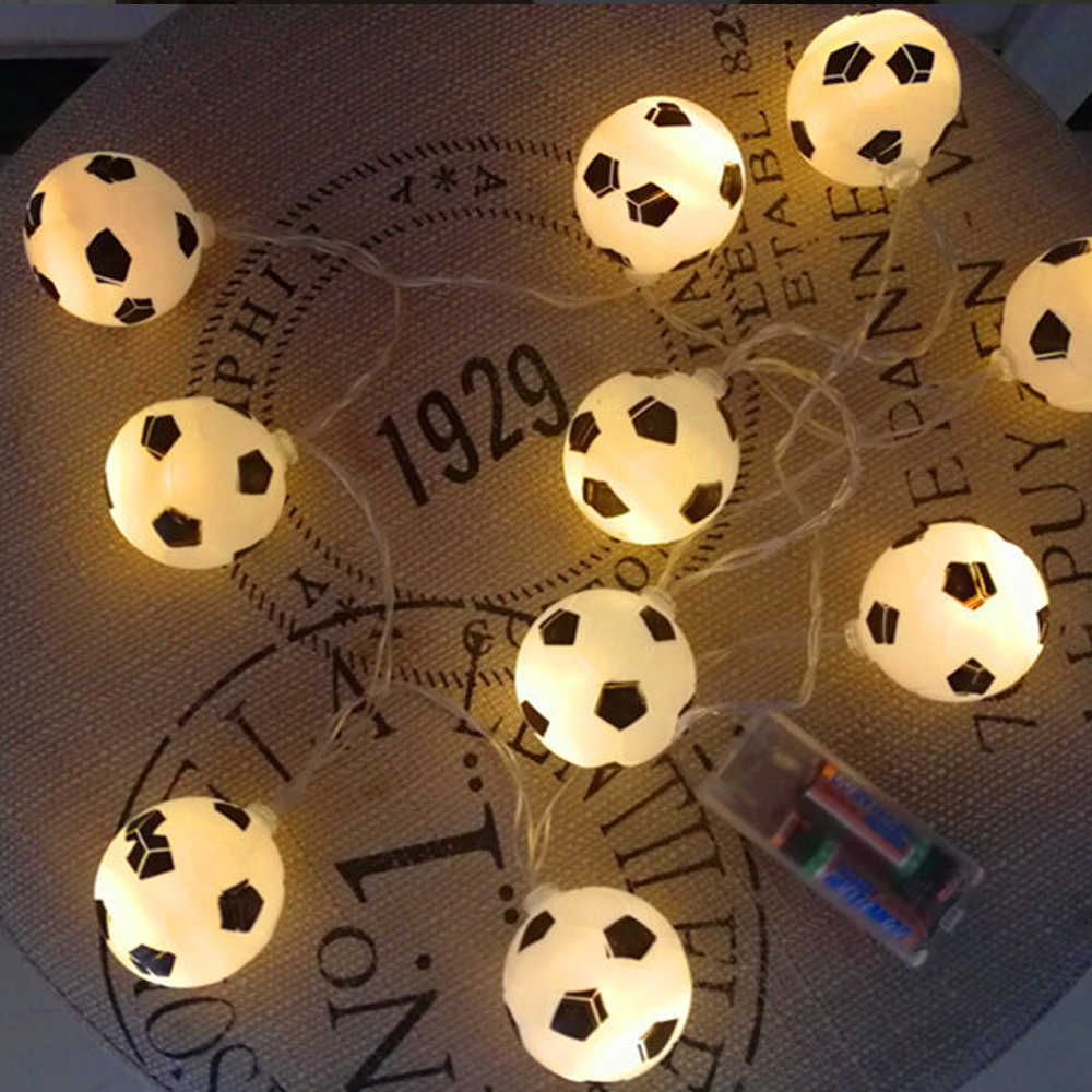 10LED Football Lights To Create Lighting DIY Party Decoration soccer accessories Lamp beads Atmosphere