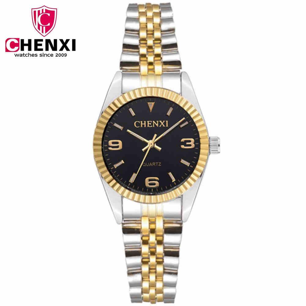 CHENXI zelta pulkstenis sievietēm luksusa pulksteņi dāmas radošā tērauda sieviešu rokassprādze pulksteņi sieviešu pulkstenis Relogio Feminino Montre Femme