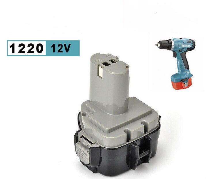 2 х новых 3.5AH NI-CD 12 В 12 вольт Батарея для Makita 1220 1222 1233 1234 192681-5 192696
